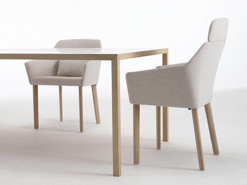 Arco slim tafel fineer eetkamerset dsw stoelen flinders